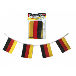1- Deutschlanflagge Girlande ca. 3m