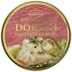 Dovgan Dorsch Filetstücke in Öl 160g
