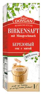 Dovgan Birkensaft mit Minzgeschmack 1l