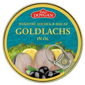 Dovgan Goldlachsstückchen in Sonnenblumenöl 240g