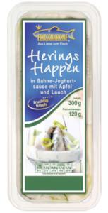 Friesenkrone Herings Happen in Sahne-Joghurtsauce + Apfel und Lauch