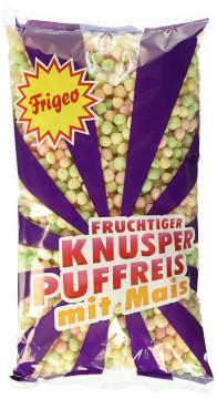 Frigeo Fruchtiger Knusper Puffreis mit Mais 80g