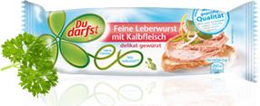 Du darfst Feine Leberwurst mit Kalbfleisch 100g