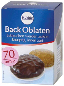 Küchle Back Oblaten 70mm für 100er