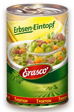 3- Erasco Erbsen Eintopf 400g