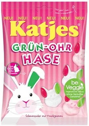 Katjes Veggie Grün-Ohr-Hase OHNE TIERISCHE GELATINE 200g
