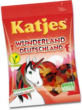Katjes Wunderland Deutschland Fruchtgummi Schwarz, rot, gold 200g