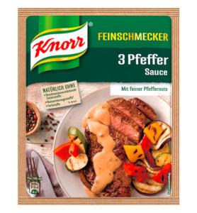 Knorr Feinschmecker 3 Pfeffer Sauce 40g pour 250ml