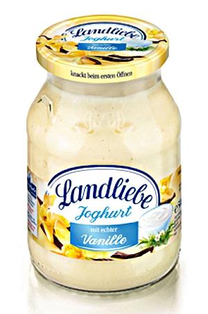 1- Landliebe Fruchtjoghurt Vanille 500g