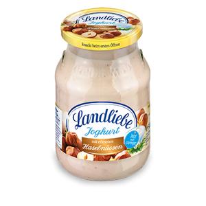 2- Landliebe Fruchtjoghurt Haselnuss 500g