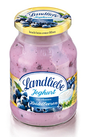 1- Landliebe Fruchtjoghurt Heidelbeere 500g