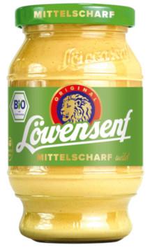 Löwensenf Bio Mittelscharf mild 250ml