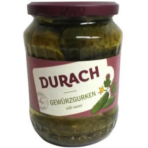 Durach Gewürzgurken Süss-Sauer 670g