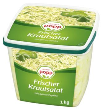 Popp Feinkost Frischer Krautsalat mit Grüner Paprika 1kg