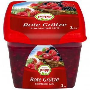 Popp Rote Grütze 52% Fruchtanteil 1000g