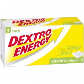 Dextro Energy Zitrone + Vitamin C 3er Pack 138g