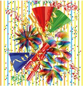 Susy Card Softige Tissue Servietten Karneval 20 stück 33 x 33cm