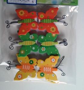 Brauns Heitmann Holzclip Schmetterling 6 Stück
