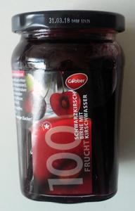 Göbber 100% Schwarzkirsche mit Kirschwasser Konfitüre (310g)