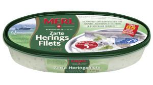 Merl Heringsfilets Dill-Sahnesauce mit Äpfeln, Zwiebeln 500g