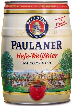 Paulaner Hefe-Weissbier naturtrüb Fass 5L