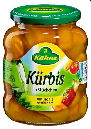 Kühne Kürbis in Stückchen mit Honig 330g