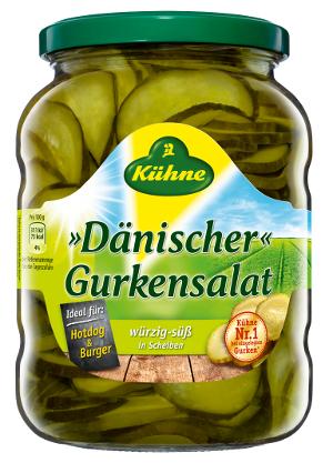 Kühne Dänischer Gurkensalat in Scheiben 330g