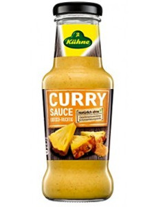 1- Kühne Curry Sauce (Exotisch-Fruchtig) 250ml