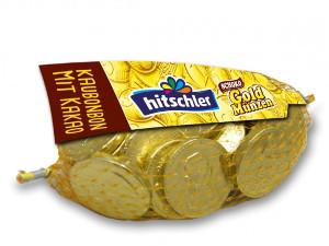 Hitschler Goldmünzen im Netz Kaubonbons Schokolade (150G)