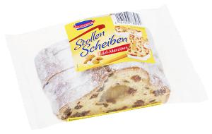 KuchenMeister Stollen Scheiben, Edel-Marzipan, 250g