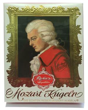 1- Reber Mozart Kugeln Barock Packung 240g für 12 stück