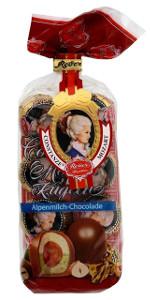 Reber Mozart Kugeln Alpenmilch-Chocolade 160g für 8 Stück