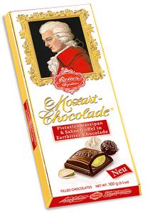 Reber Mozart Chocolade (Pistazienmarzipan & Sahnetrüffel) 100g