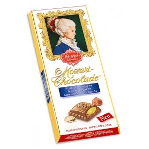 Reber Mozart-Chocolade (Pistazienmarzipan & Edelnougat) 100g