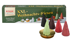 Knox XXL Weihnachtsriesen Räucherkerzen (bunt gemischt)