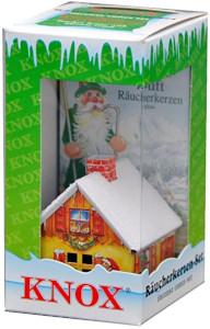 1- Knox Räucherkerzen mit Räucherhaus ca. 5,5cm