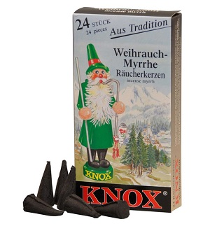 Knox Weihrauch-Myrrhe Räucherkerzchen 24 Stck