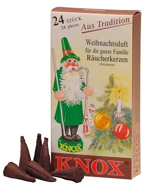 Knox Weihnachtsduft Räucherkerzen 24 Stck