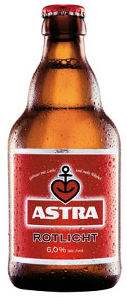 Astra Rotlicht Alk . 6,0% vol. 33cl