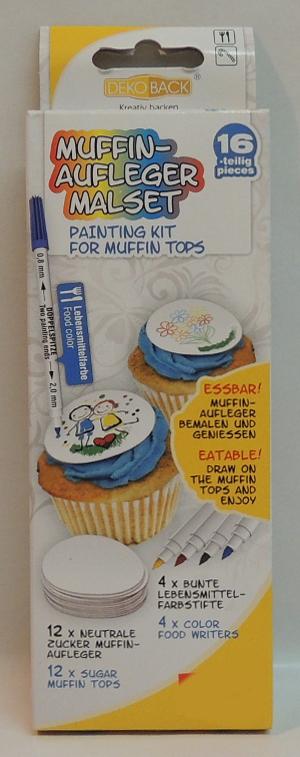 DekoBack Muffin-Aufleger Malset für 12 Stck