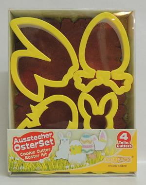 DekoBack 4 Ausstecher Oster-Set 4 Teile