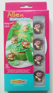Dekoback Zuckerdekor Affen (12 Stück)