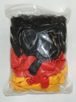 99 Ballons Schwarz-Rot-Gelb