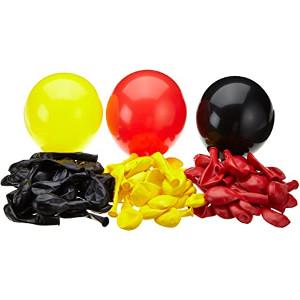 1- 99 Luftballons schwarz rot Gold Premiumqualität Ø ca. 27cm B85