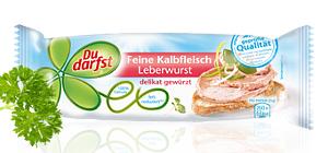 Du Darfst feine Kalbsleberwurst 125g