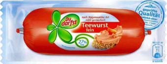 Du darfst Teewurst fein mit Pflanzenfett 100g