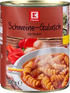 K Classic Schweine-Gulasch mit Nudeln 800g