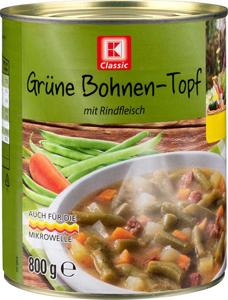K Classic Grüne Bohnen Topf mit Rindfleisch 800g