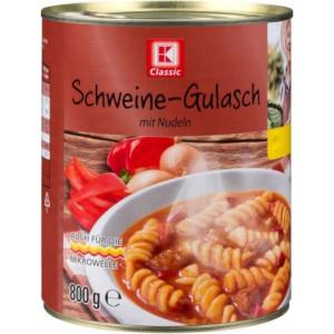 K Classic Ganze Mahlzeit Schweine-Gulasch mit Nudeln 800g