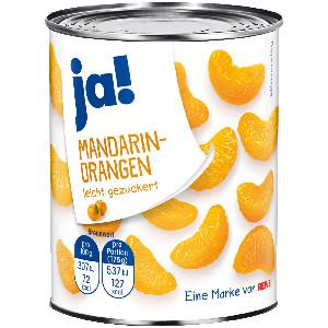 Ja! Mandarin-Orangen leicht gezuckert 312g